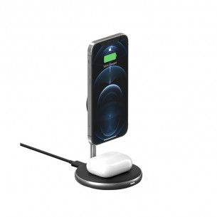HyperJuice Magnetic 2 in 1 Wireless Charging Stand iPhone 12 Series & AirPods