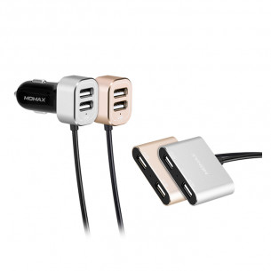 Momax Car Charger with USB Extension Hub 48W