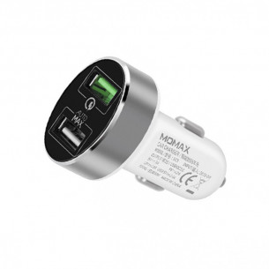 Momax Dual-Port USB Fast Car Charger