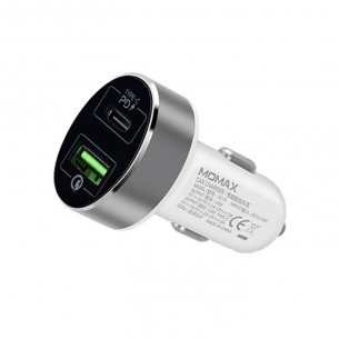 Momax Dual-Port USB with Type-C PD Fast Car Charger