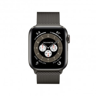 Apple Watch Series 6 GPS 44MM Space Black Titanium Case With Milanese Loop