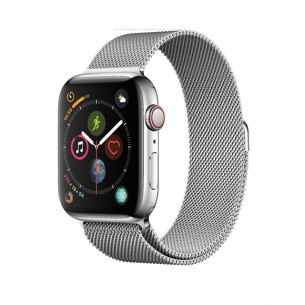 Apple Watch Series 4 GPS+Cellular 40MM Stainless Steel Case with Milanese Loop