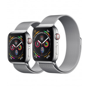 Apple Watch Series 4 40mm GPS+Cellular 40MM Stainless Steel Case with Milanese Loop