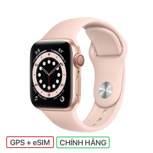 Apple Watch Series 6 GPS+Cellular 40MM Gold Aluminum Case With Pink Sand Sport Band