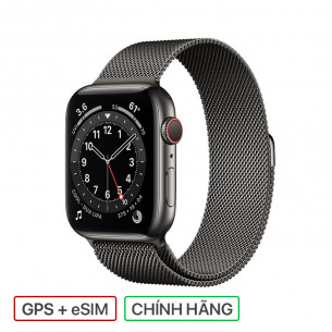 Apple Watch Series 6 GPS+Cellular 40MM Graphite Stainless Steel Case With Graphite Milanese Loop