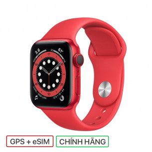 Apple Watch Series 6 GPS+Cellular 40MM Red Aluminum Case With Red Sport Band