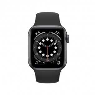 Apple Watch Series 6 GPS+Cellular 40MM Space Gray Aluminum Case With Black Sport Band