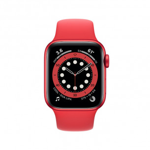 Apple Watch Series 6 GPS 44MM Red Aluminum Case With Red Sport Band