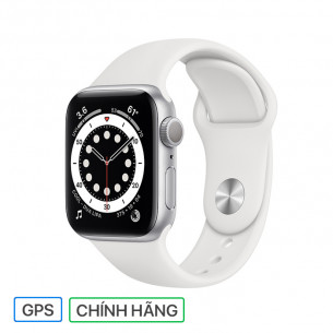 Apple Watch Series 6 GPS 40MM Silver Aluminum Case With White Sport Band