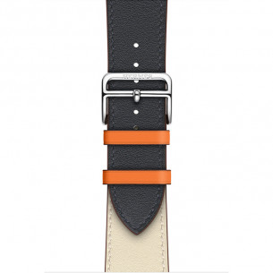 Apple Watch Band Indie/Craie with Orange Swift Leather Single Tour