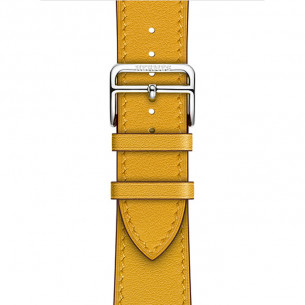 Hermès Leather Jaune Ambre Swift Leather Single Tour
