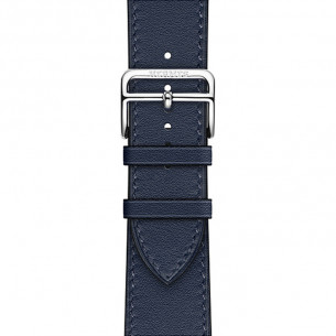 Hermès Leather Navy Swift Leather Single Tour