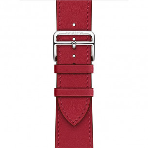 Hermès Leather Rouge Piment Swift Leather Single Tour