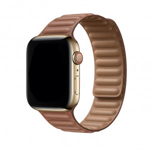 Apple Watch Band Dual Magnetic Saddle Brown