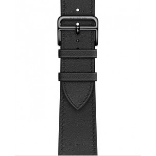 Hermès Leather Noir Swift Leather Single Tour