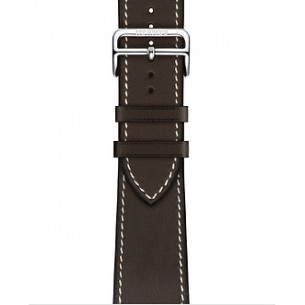 Hermès Ébène Barénia Leather Single Tour Deployment Buckle