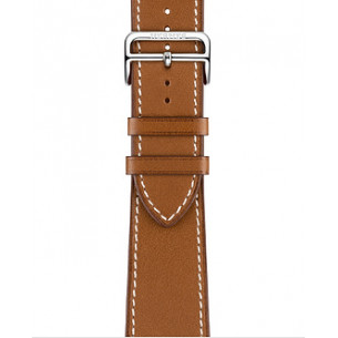 Hermès Leather Fauve Barénia Leather Single Tour Deployment Buckle